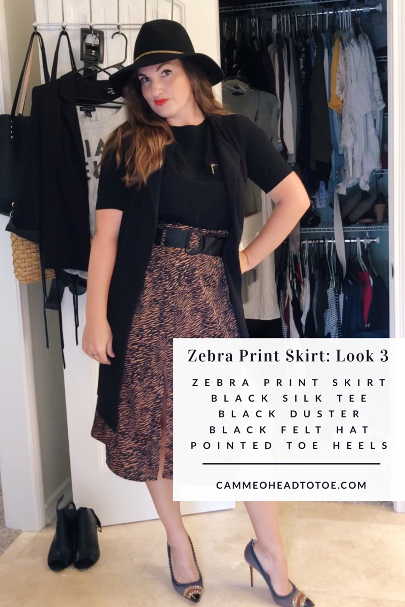 How to Style an Animal Print Skirt for Fall